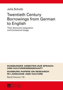 Twentieth Century Borrowings from German to English