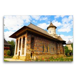 Premium Textil-Leinwand 75 cm x 50 cm quer Kloster Moldovita