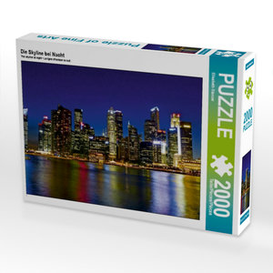 CALVENDO Puzzle Die Skyline bei Nacht 2000 Teile Lege-Größe 90 x