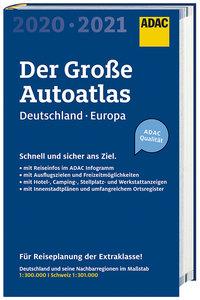 Großer ADAC Autoatlas 2020/2021, Deutschland 1:300 000, Europa 1