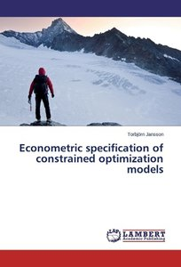 Econometric specification of constrained optimization models