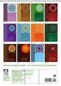 Mandala - Spiegel der Seele / immerwährender Geburtstagskalender