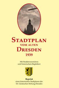 Stadtplan vom alten Dresden 1939