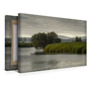 Premium Textil-Leinwand 45 cm x 30 cm quer Wollmatinger Ried