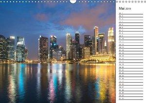 Skylines weltweit (Wandkalender 2019 DIN A3 quer)