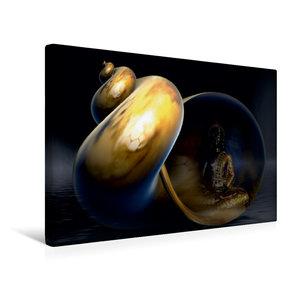 Premium Textil-Leinwand 45 cm x 30 cm quer Buddha und Yin Yang