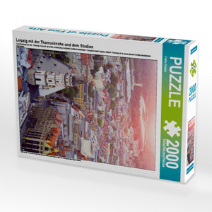 CALVENDO Puzzle Leipzig mit der Thomaskirche und dem Stadion 200