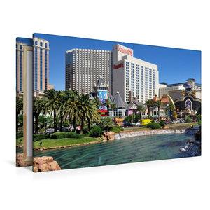 Premium Textil-Leinwand 120 cm x 80 cm quer Casinos und großzügi