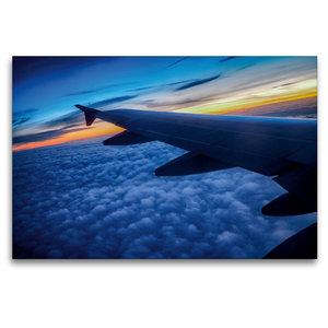Premium Textil-Leinwand 120 cm x 80 cm quer Über den Wolken