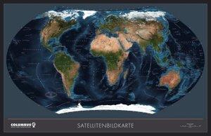 COLUMBUS Weltkarte TING - Satellit / politisch