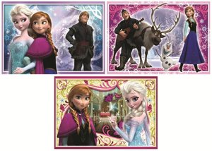 Disney Frozen - 3in1 Puzzle