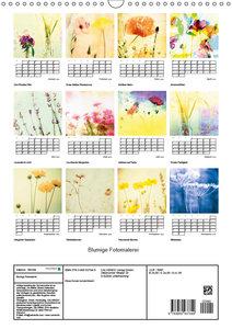 Blumige Fotomalerei (Wandkalender 2019 DIN A3 hoch)