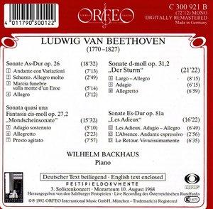 Klaviersonaten op.26/27,2/31,2/81a