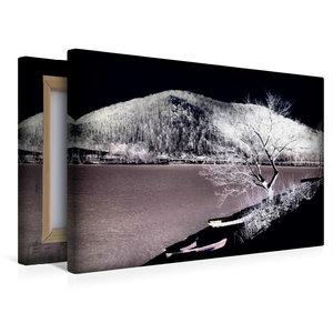 Premium Textil-Leinwand 45 cm x 30 cm quer Winterzone