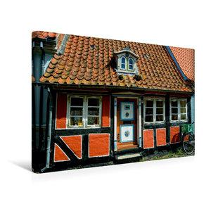 Premium Textil-Leinwand 45 cm x 30 cm quer Altes Haus in Faaborg