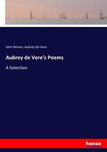 Aubrey de Vere\'s Poems