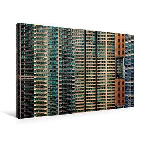 Premium Textil-Leinwand 90 cm x 60 cm quer Hong Kong; Harbour Pl