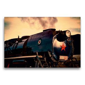 Premium Textil-Leinwand 75 cm x 50 cm quer Dampflokomotive 498.1