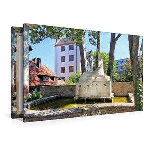 Premium Textil-Leinwand 120 cm x 80 cm quer Einhornbrunnen