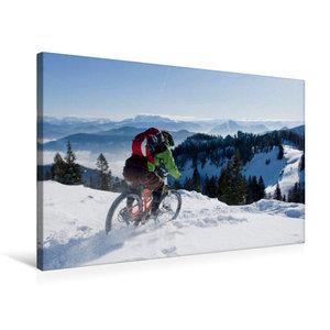 Premium Textil-Leinwand 75 cm x 50 cm quer Kampenwand/Germany,