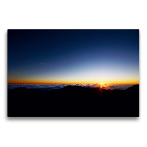 Premium Textil-Leinwand 75 cm x 50 cm quer Haleakala Sunrise