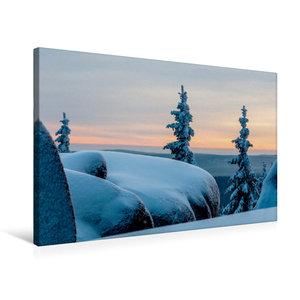 Premium Textil-Leinwand 75 cm x 50 cm quer Winterstimmung auf de