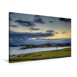 Premium Textil-Leinwand 90 cm x 60 cm quer Die Lindisfarne von H