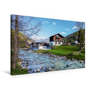 Premium Textil-Leinwand 90 cm x 60 cm quer Ramsau, Berchtesgaden