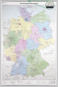 Poster Verwaltungskarte Deutschland 1 : 750 000 mit Bestäbung