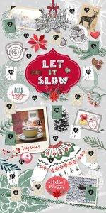 Wandkalender Let it slow. Adventskalender