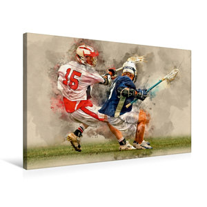Premium Textil-Leinwand 75 cm x 50 cm quer Lacrosse