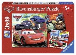 Weltweiter Rennspaß. Puzzle 3 X 49 Teile