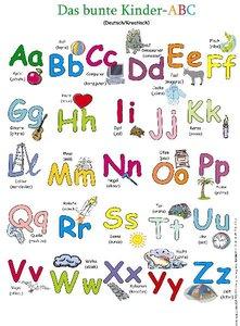 Das bunte Kinder-ABC. Poster Deutsch / Kroatisch