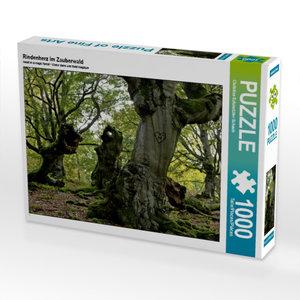 Rindenherz im Zauberwald 1000 Teile Puzzle quer