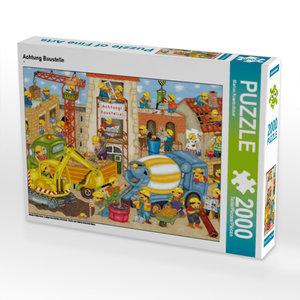 Achtung Baustelle 2000 Teile Puzzle quer