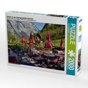 Einkehr in der Alpengaststätte Saletalm 2000 Teile Puzzle quer