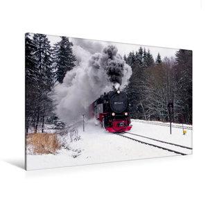 Premium Textil-Leinwand 120 cm x 80 cm quer Brockenbahn