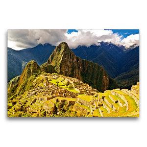 Premium Textil-Leinwand 75 cm x 50 cm quer Macchu Picchu
