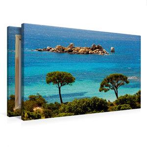Premium Textil-Leinwand 75 cm x 50 cm quer Palombaggia
