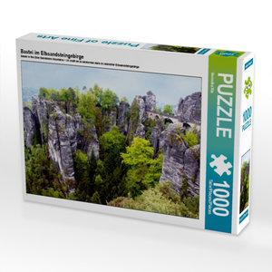 CALVENDO Puzzle Bastei im Elbsandsteingebirge 1000 Teile Lege-Gr