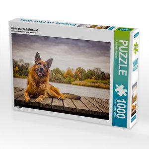 Deutscher Schäferhund 1000 Teile Puzzle quer