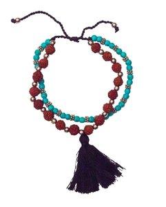 Armband \'Rudrakasha und Türkisperlen\'