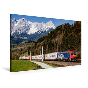 Premium Textil-Leinwand 90 cm x 60 cm quer Schweiz meets Pongau