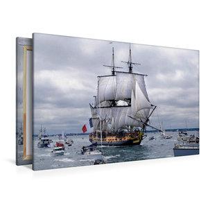 Premium Textil-Leinwand 120 cm x 80 cm quer Het fregat Hermione