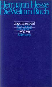 Die Welt im Buch 1. Rezensionen und Aufsätze aus den Jahren 1900