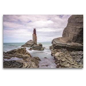 Premium Textil-Leinwand 120 cm x 80 cm quer Tuahine Lighthouse