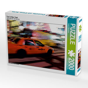 Taxi in New York 2000 Teile Puzzle quer