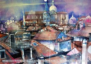 Venedig - Dachlandschaften in Aquarell