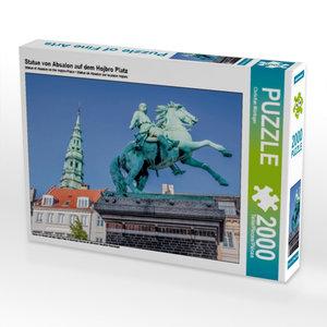 Statue von Absalon auf dem Hojbro Platz 2000 Teile Puzzle quer