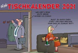 Uli Stein - Tischkalender 2021: Monatskalender zum Aufstellen